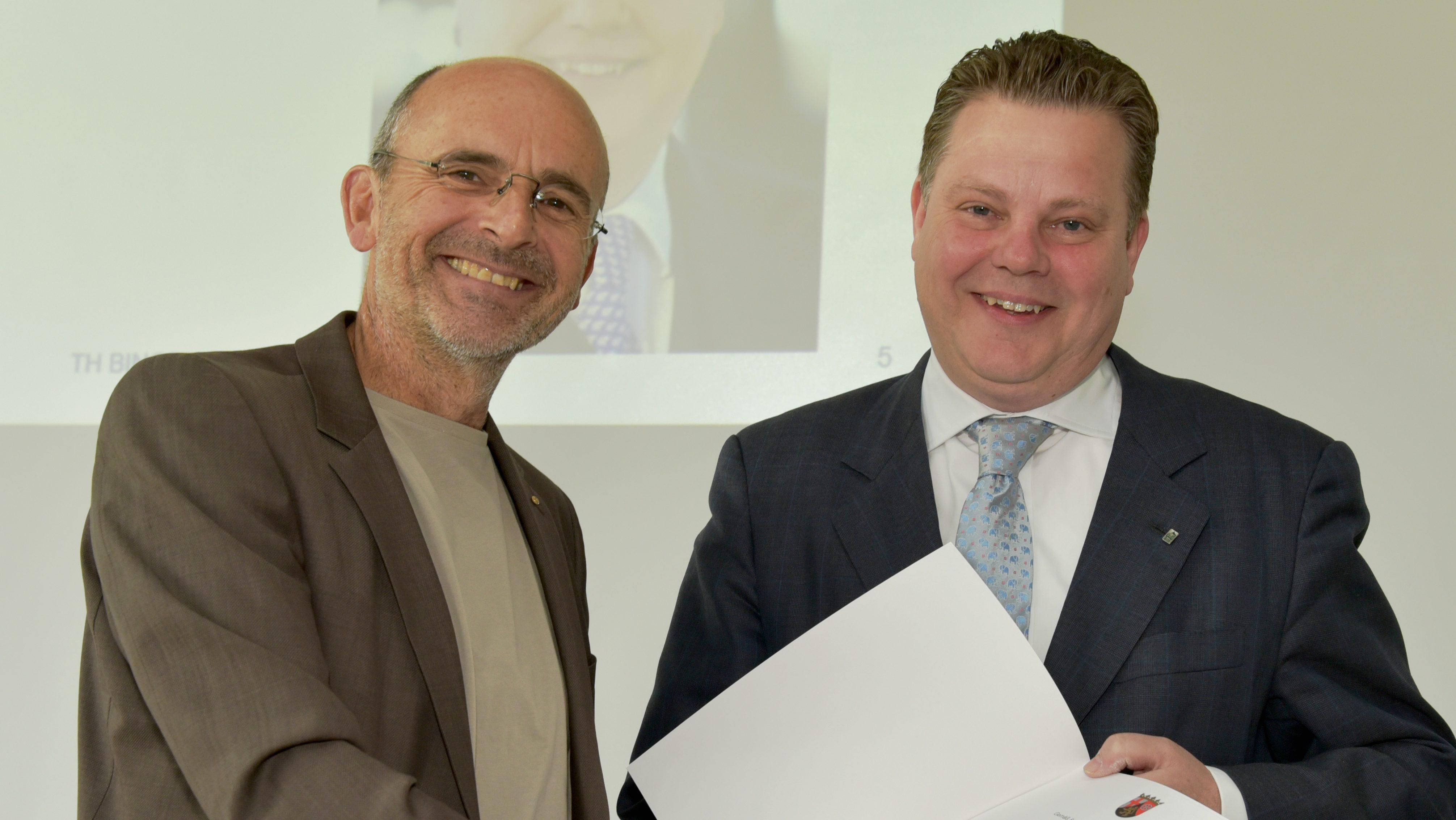 Christian Held wird Honorarprofessor an der TH Bingen