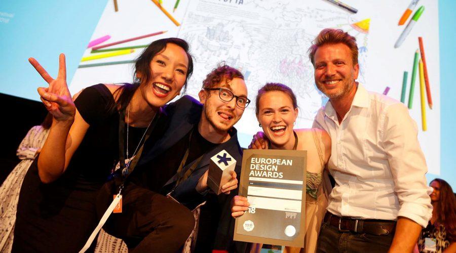 Energiewende-Malbuch bei den European Design Awards ausgezeichnet