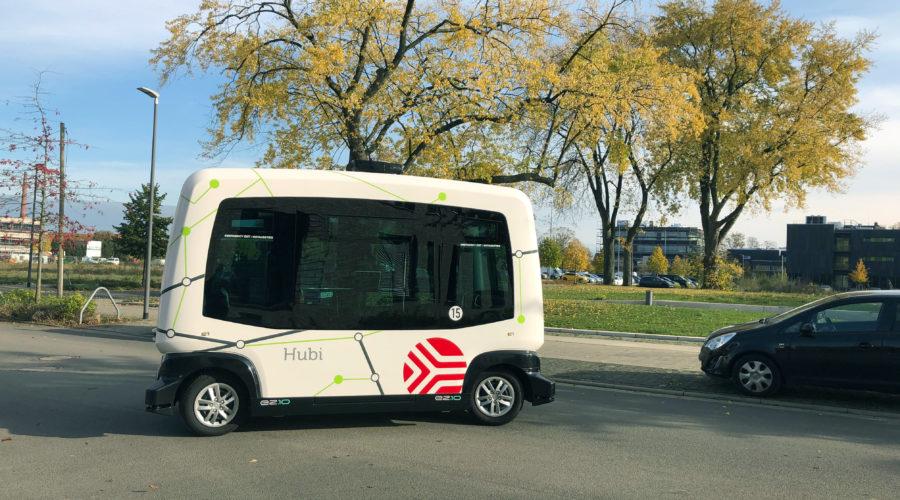 Hubi-Start in Bad Essen: Selbstfahrender Shuttlebus startet nach Corona-Zwangspause in die dritte Testphase
