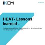 HEAT-Lessons learned: Rechtswissenschaftlicher Ergebnisbericht zu den erforderlichen Genehmigungen in IS1 und IS2