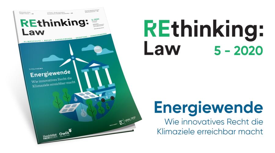 REthinking Law – Wie innovatives Recht die Klimaziele erreichbar macht