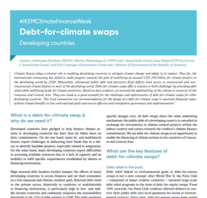 #IKEMClimateFinanceWeek: Debt-for-climate swaps
