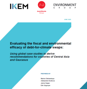 Evaluating the fiscal and environmental efficacy of debt-for-climate swaps: Using global case studies to derive recommendations for countries of Central Asia and Caucasus